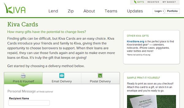 Kiva Cards