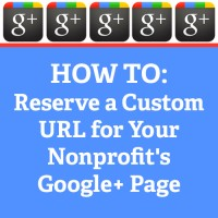 google plus custom urls for nonprofits