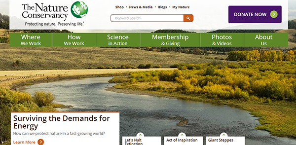 nature conservancy responsive