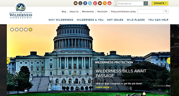wilderness society responsive