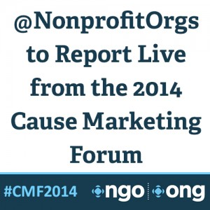 Square Graphic Annoucement Nonprofits at Cause Marketing Forum