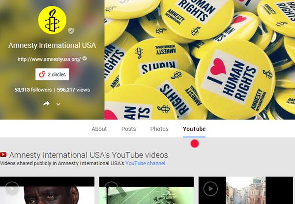 Amnesty International Google+