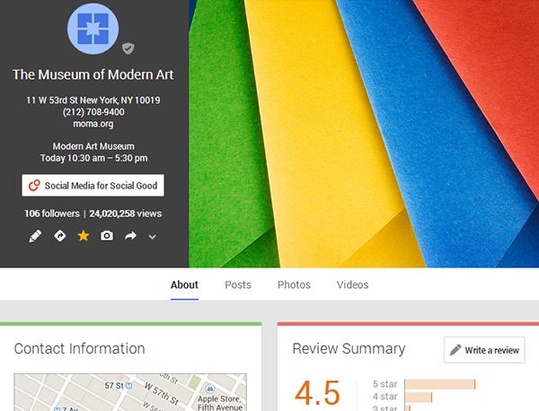 MOMA on Google+