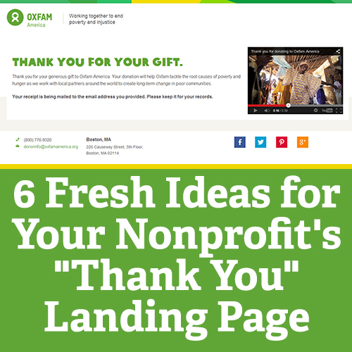 """6 Fresh Ideas for Your Nonprofit's """"Thank You"""" Landing Page"""