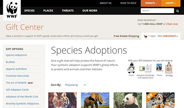 World Wildlife Gift Center. shop. WWF