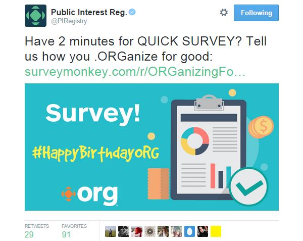 Twitter Image PIR Survey