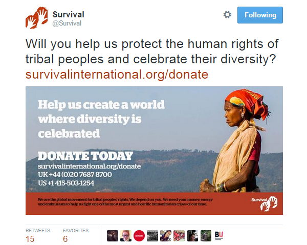 Twitter Image Survival International