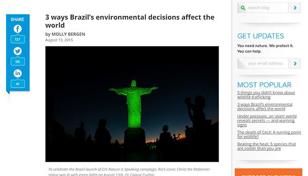 Conservation International Blog 1