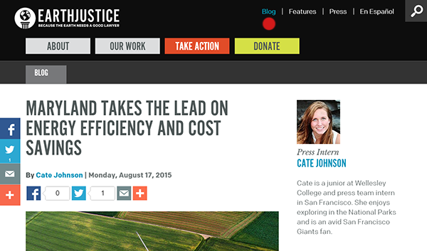earthjustice blog