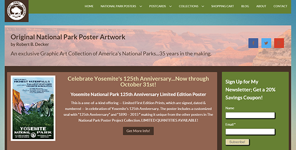 National Park Posters store