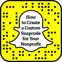 How to Create a Custom Snapcode for Your Nonprofit