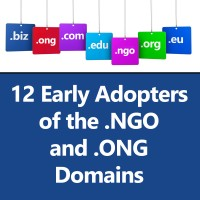 Early Adopter NGOs ONGs Domains Facebook