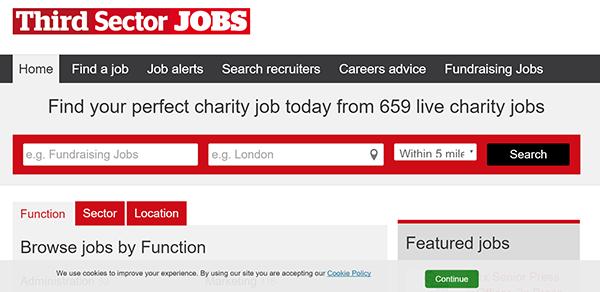 third sector jobs